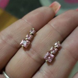 Pink Topaz~Sterling earrings